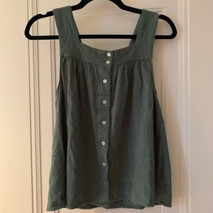 Vici button up tank- small